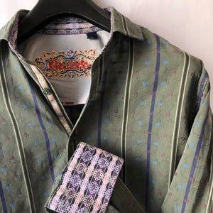 Robert Graham Silk Cotton Flip Cuff Shirt